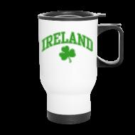 Mugs & Drinkware ~ Travel Mug ~ Green and White Ireland Mug