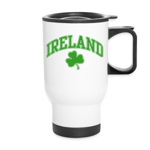 Green and White Ireland Mug - Travel Mug