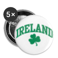 Buttons ~ Large Buttons ~ Green and White Ireland Buttons