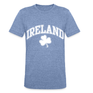 T-Shirts ~ Unisex Tri-Blend T-Shirt ~ Ireland Shamrock Men's Heather T-Shirt