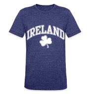 T-Shirts ~ Unisex Tri-Blend T-Shirt ~ Ireland Shamrock Men's Heather T-Shirt