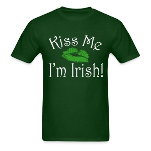 Unisex/Men's Kiss Me I'm Irish T-Shirt - Men's T-Shirt