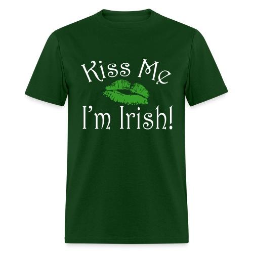 Unisex/Men's Kiss Me I'm Irish T-Shirt - Men's T-Shirt