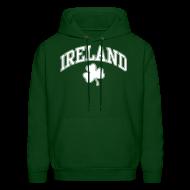 Hoodies ~ Men's Hoodie ~ Ireland Shamrock Men's Hoodie Sweatshirt