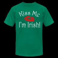 T-Shirts ~ Men's T-Shirt by American Apparel ~ Unisex/Men's Kiss Me I'm Irish T-Shirt