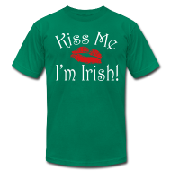 T-Shirts ~ Men's T-Shirt by American Apparel ~ Unisex/Men's Kiss Me I'm Irish T-Shirt