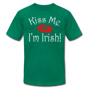 Unisex/Men's Kiss Me I'm Irish T-Shirt - Men's Fine Jersey T-Shirt
