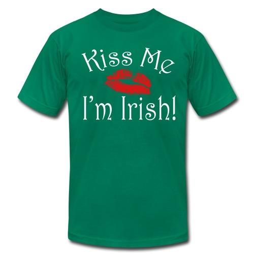 Unisex/Men's Kiss Me I'm Irish T-Shirt - Men's Fine Jersey T-Shirt