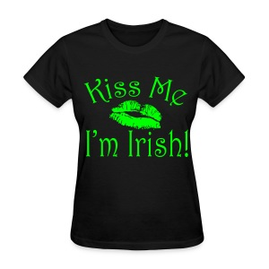 Neon Green Kiss Me I'm Irish Women's Tshirt - Women's T-Shirt