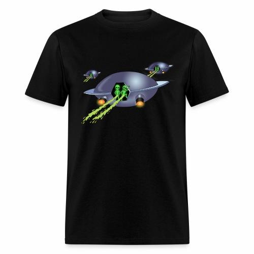 Aliens Peeing - Men's T-Shirt