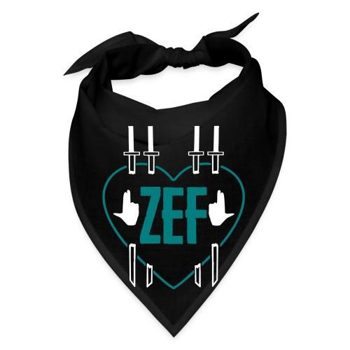 Zef Heart Bandana Blk - Bandana