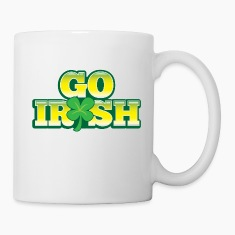 GO IRISH green shamrock IRELAND  Bottles & Mugs