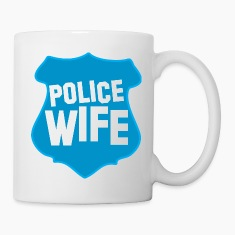 POLICE BADGE wife wive married to cops Bottles & Mugs