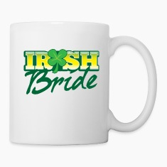 IRISH BRIDE shamrock ST PATRICKS  Bottles & Mugs
