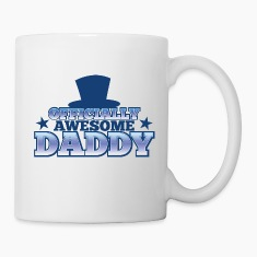 OFFICIALLY AWESOME DADDY with shoes bows cute! Bottles & Mugs