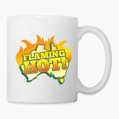 FLAMING HOT Australian fire flames Bottles & Mugs