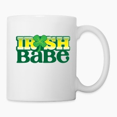 IRISH BABE shamrock cute girl sexy Bottles & Mugs