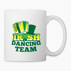 IRISH Dancing team with accordion and hat Bottles & Mugs