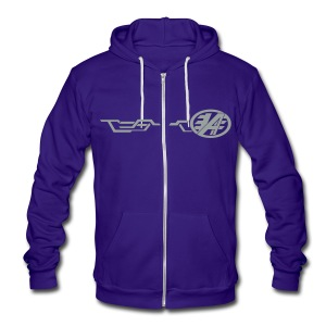 Grand Delusion Jacket (Blue) - Unisex Fleece Zip Hoodie by American Apparel
