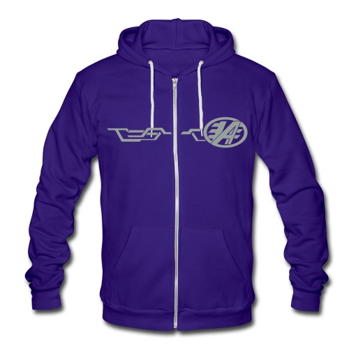 Grand Delusion Jacket (Blue) - Unisex Fleece Zip Hoodie
