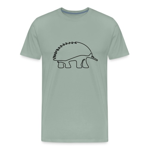 Echidna T Shirt - Light Green - Men's Premium T-Shirt