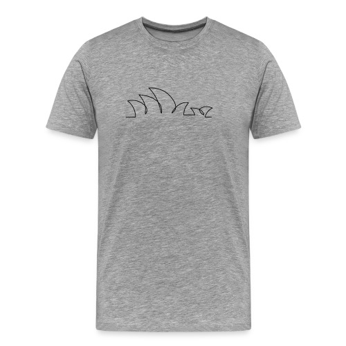 Sydney Opera House - T Shirt - Premium Gray - Men's Premium T-Shirt