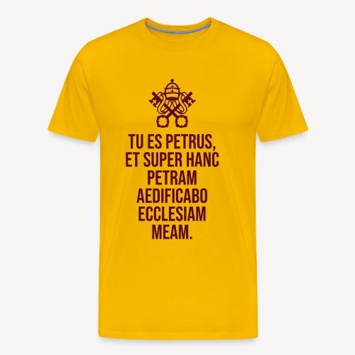 TU ES PETRUS - Men's Premium T-Shirt