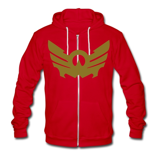 Guardian Angel (Red Storm) - Unisex Fleece Zip Hoodie