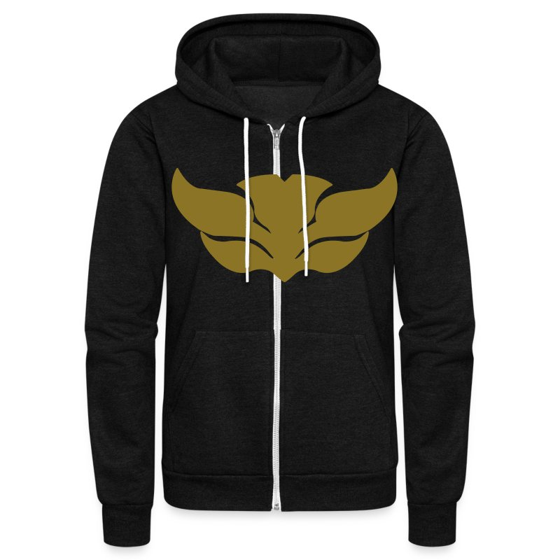 Guardian Angel (Black Stone) - Unisex Fleece Zip Hoodie by American Apparel