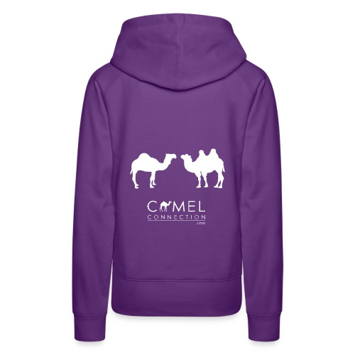 Hoodie Womens - Camel Connection (Bactrian & Dromedary) - Women's Premium Hoodie