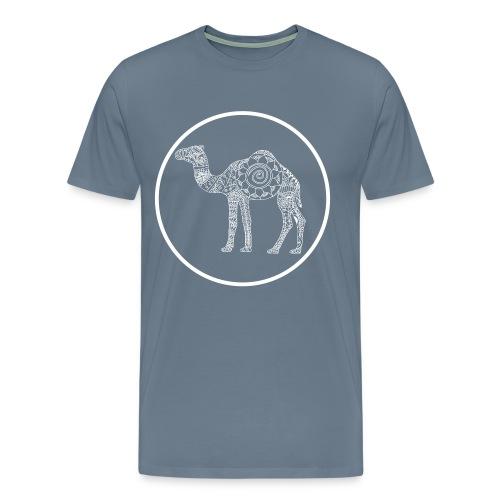 Men's Mandala Camel Circle Tee - Men's Premium T-Shirt