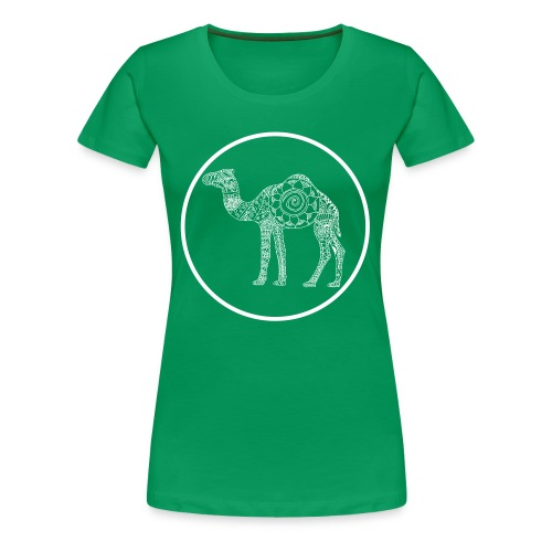 Women's Mandala Camel Circle Tee - Women's Premium T-Shirt