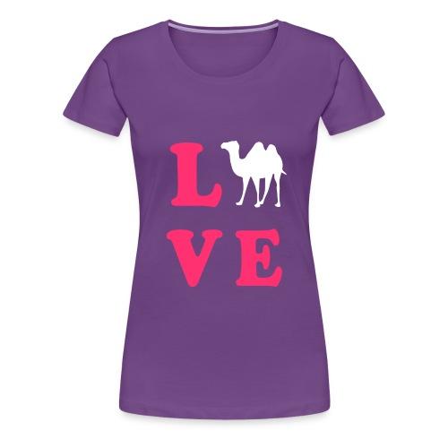 Women's Camel Love Tee - Women's Premium T-Shirt
