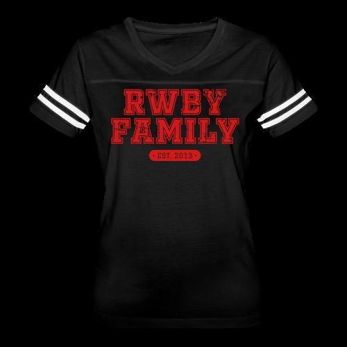 RWBY Family Varsity Ladies' Ringer Tee - Women's Vintage Sport T-Shirt