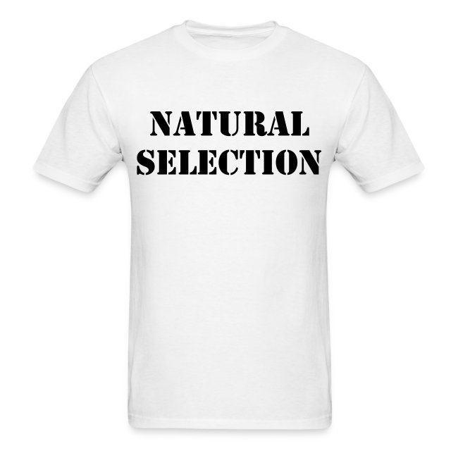 'Natural Selection' t-shirt as worn by ZILLAKAMI