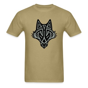 Graphic Wolf (Silver/Black) Men's Standard Weight T-Shirt - Men's T-Shirt