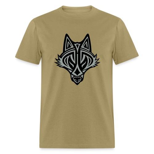 Graphic Wolf (Silver/Black) Men's Standard Weight T-Shirt - Men's T-Shirt