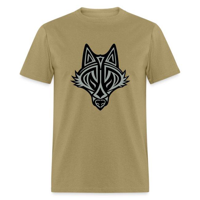 Graphic Wolf (Silver/Black) Men's Standard Weight T-Shirt
