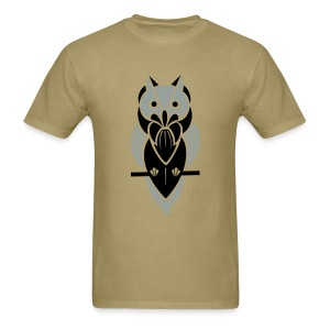 Graphic Owl (Silver/Black) Men's Standard Weight T-Shirt - Men's T-Shirt