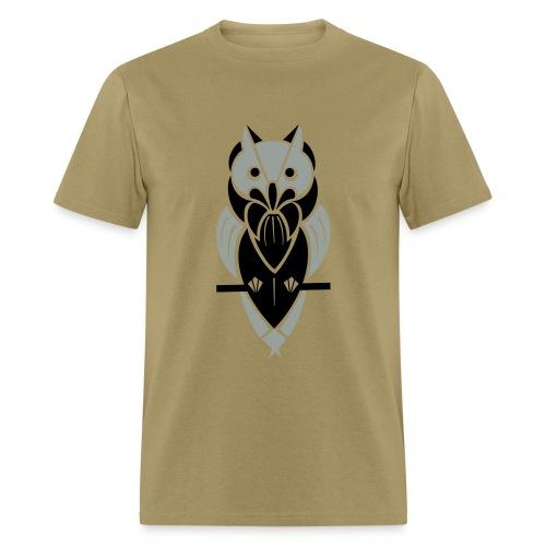Graphic Owl (Silver/Black) Men's Standard Weight T-Shirt - Men's T-Shirt