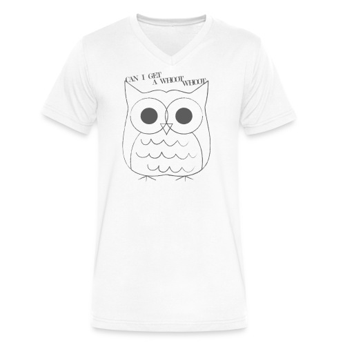 Unisex Whoot Whoot V-neck Tee - Men's V-Neck T-Shirt by Canvas