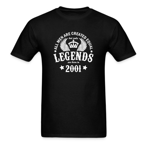 Legends are Born in 2001 - Men's T-Shirt