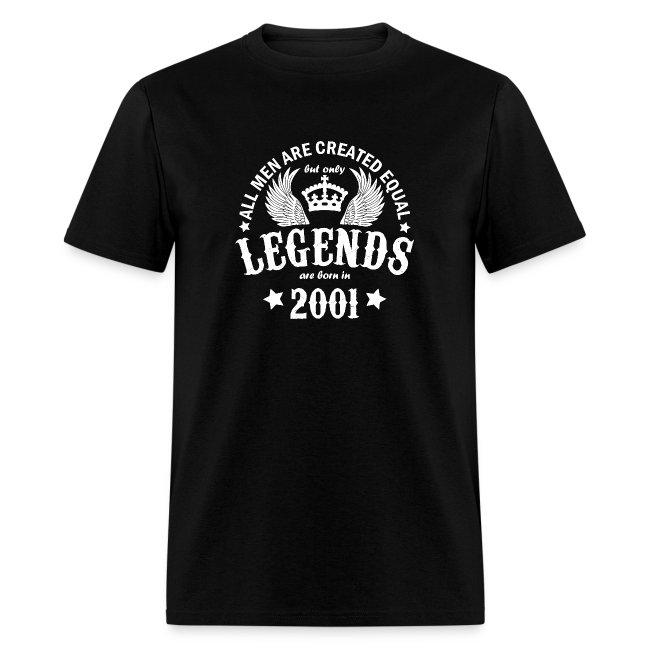 Legends are Born in 2001