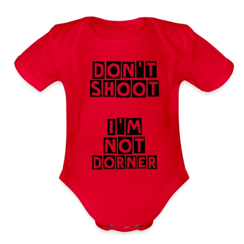 Organic Short Sleeve Baby Bodysuit - Let the LAPD know that your baby is not  Christopher Dorner. Show your support for the revolution that is necessary in the LAPD.