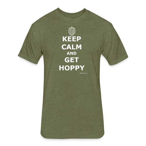 Keep Calm And Get Hoppy Fitted Cotton/Poly T-Shirt  - Fitted Cotton/Poly T-Shirt by Next Level