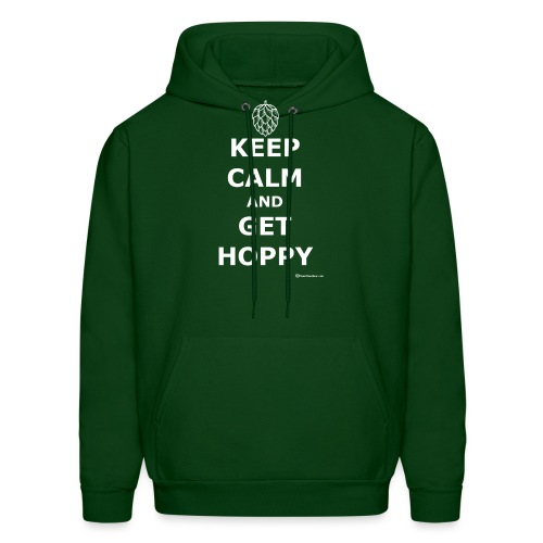 Keep Calm And Get Hoppy Men's Hoodie - Men's Hoodie