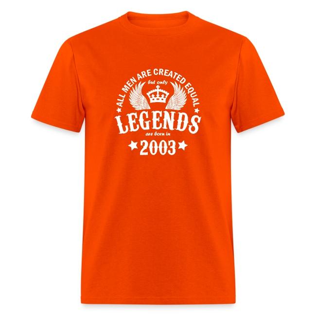 Legends are Born in 2003