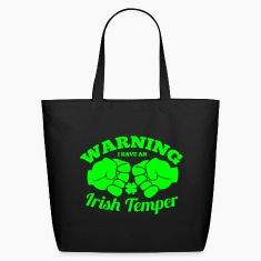 WARNING I have an IRISH TEMPER with boxing fists Bags