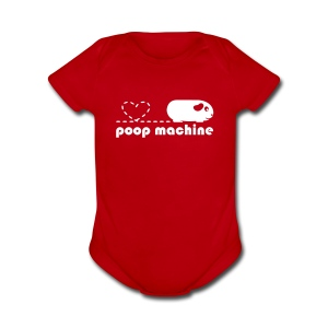 'Poop Machine' Baby Bodysuit - Short Sleeve Baby Bodysuit