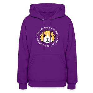 'Crazy Guinea Pig Woman' Ladies Hoodie/Sweatshirt - Women's Hoodie